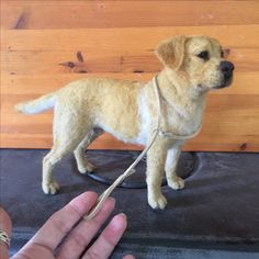 Needle felted Labrador by Chicktin Creations