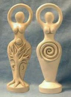 Free article, Evoking the Goddess, by Karen Harrison on the names of the goddess to use for different purposes, or who is the goddess of what. Find more free Wicca information at Isis Books and Gifts. Gaia Goddess, Earth Goddess, Mother Goddess, Wiccan Crafts, Stone Statues, Ceramic Clay, Gods And Goddesses, Clay Art, Larp