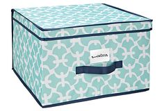 Jumbo Storage Box, Aqua Scout on OneKingsLane.com