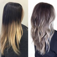 Fashionable Balayage Hair Color Ideas For Brunettes - Beauty Tips Grey Ombre Hair, Brown Blonde Hair, Brunette Hair, Brown To Grey Ombre, Balyage Brunette, Bayalage, Balayage Hair Brunette Medium, Blonde Fall Hair Color, Ash Ombre
