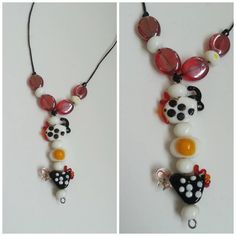 Chicken Egg Rooster Necklace by Naps on Etsy