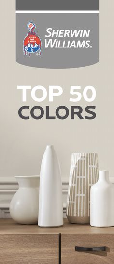 See the most popular, TOP 50 BESTSELLING PAINT COLORS from Sherwin Williams! Wall and trim paint color design inspiration! #sherwinwiliams #bestselling #paint #colors #walls #trim #color #popular #neutral #design #decor #interiors #livingroom #bedroom #interiordesign