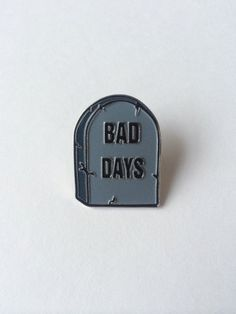 This is an soft enamel lapel pin with my take on the No Bad Days campaign from the 90s. Designed by me in Long Beach, California. Measures 1.25