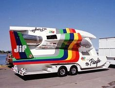 Tilt Trailer, Toy Hauler Trailers, Cool Boats, Speed Boats, Race Cars, Old School, Jet, Presents, Racing