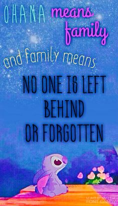 Ohana Means Family-Disney iPhone Wallpaper