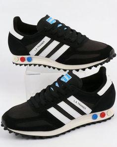 low priced 20737 0e72b Adidas LA Trainer OG Black White