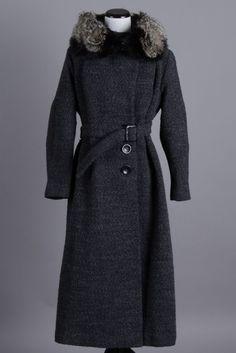 Medium 40s-50s Vintage Bobby Burns Grey Wool Winter Coat w/ Black Mink Collar. A high quality and extremely warm vintage coat! $250 via eBay