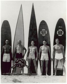 Vintage surfers, '40's or '50s
