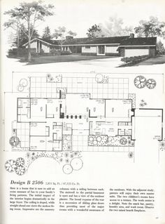 Vintage Farmhouse Plans vintage house plans, mid century homes, 1960s homes | houses
