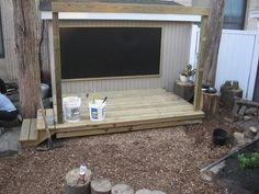 for our stage area Jennifer Kable onto early childhood outdoor learning environments Outdoor Stage, Outdoor Theater, Outdoor School, Outdoor Fun, Preschool Playground, Preschool Garden, Outdoor Learning Spaces, Outdoor Play Areas, Natural Playground