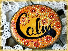 Hand Painted Rock  Home Decor Custom Order Paperweight