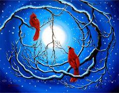 Winter Peace Original Acrylic Painting