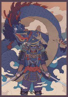 Character Concept, Character Art, Oni Samurai, Trippy Designs, Japanese Art Modern, Samurai Artwork, Japon Illustration, Arte Obscura, Cyberpunk Art