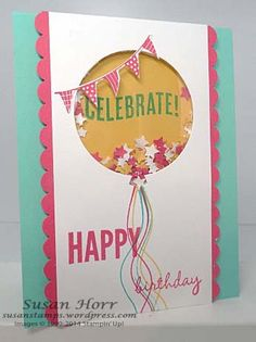 Celebrate Today, 2015 Occasions Catalog, Stampin Up, shaker card…