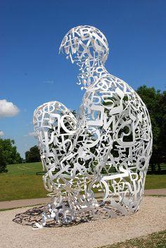 Jaume Plensa sculpture exhibition April - Septmber 2011, Yorkshire Sculpture Park, Bretton Estate, Wakefield