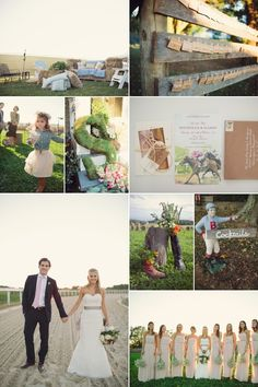 Anne Barge Bride - Maryland - Race Horse Country theme - Wedding Inspiration Board