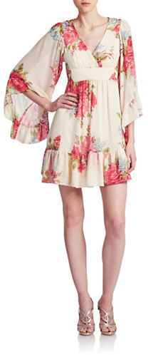 This bell sleeved dress is perfect for a summer brunch