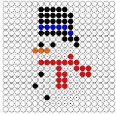De Onderwijsstudio: Kralenplank - Sneeuwpop