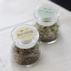 Spice Labels via Mignon Kitchen Co.