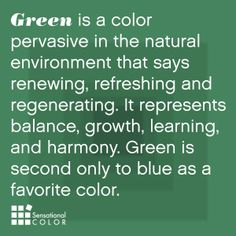 Color Meaning of Green Explained; symbolism, psychology, word associations, intrigue facts about green and how to use nature's favorite color effectively. World Of Color, Color Of Life, Go Green, Green Colors, Green Eyes, Color Meanings, Color Psychology, Color Theory, Shades Of Green