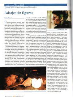 La revista Caimán Cuadernos de Cine habla de CRUZANDO EL SENTIDO, de Iván Fernández de Córdoba, en su repaso por lo mejor del XX CInema Jove.
