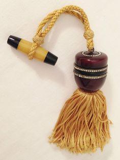 1 of 12: rare DECO rhinestone MUSEUM QUALITY CELLULOID compact-purse-perfume circa 1920s