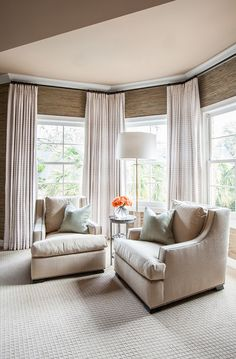 Perfect Bedroom Sitting Area With Two Chairs. Laura U, Inc.
