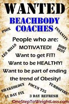 Interested in making more money, getting fit, and healthy? Then this something you can't miss out! Learn more about becoming a Beachbody Coach here: http://www.tipstoloseweightblog.com/make-money/leaders-wanted-become-a-beachbody-coach #GetFitMakeMoney