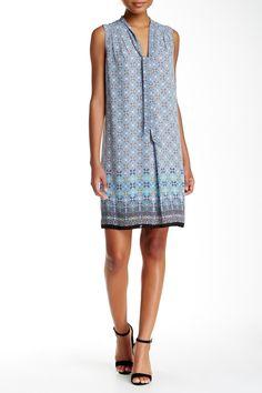 Self-Tie Neck Printed Shift Dress by Max Studio on @nordstrom_rack
