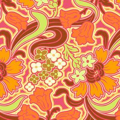 Amy Butler - Soul Blossoms - Disco Flower in Tangerine. Okay, hmmm. Love this!