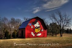Mickey Mouse Barn! Love it! That would make long drives in the country much more exciting.