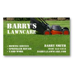 lawn care or landscaping business card - Lawn Service Business Cards