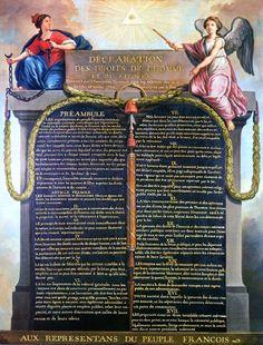 «Déclaration des Droits de l'Homme et du Citoyen de 1789». Author: Jean-Jacques-Francois Le Barbier(1738–1826)