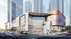 One city works lead 8 商 业 裙 房 shopping mall architecture, shoping mall, mal Mall Design, Design Café, Facade Design, Tower Design, Commercial Complex, Commercial Street, Commercial Design, Commercial Architecture, Facade Architecture