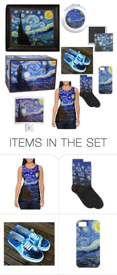 """Take Vincent Van Gogh Wherever You Go!"" by rebekahbradley ❤ liked on Polyvore featuring art"