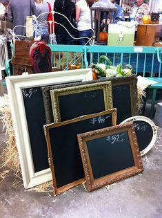 Chalkboard in a frame.