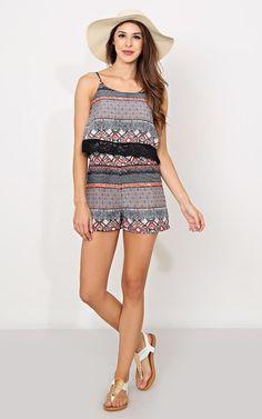 Sunbeam Aztec Woven Romper - Dresses - Shop