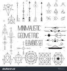 Big set of vector minimalism/geometry/hipster design elements