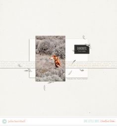 .scrapbooking   Creative Team Inspiration   One Little Bird   Materials Used: Dwell and Halcyon.