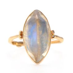 MARQUIS MOONSTONE RING | Emily Amey Jewelry