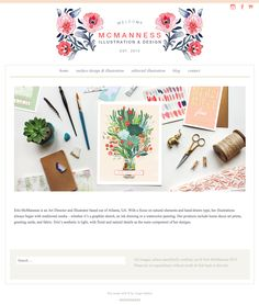 Erin McManness is an INSANELY talented illustrator whose website is running off of an Angie Makes Wordpress theme. Yummy stuff! Take a look.