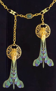 Amazing vintage necklace!!!-lalique c.1897-1899