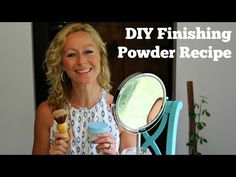 This easy homemade finishing powder absorbs oil and shine, prolongs the wear of makeup, provides a flawless, airbrush looking finish & reduces fine lines!