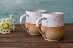 Pottery White Coffee Mug, White Ceramic Mugs Set, Home Wedding Gift, Large White Pottery mug, Coffee Stoneware Mugs, Ceramic Mugs, Ceramic Bowls, Ceramic Art, Pottery Mugs, Ceramic Pottery, Pottery Ideas, Thrown Pottery, Slab Pottery