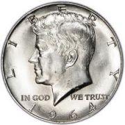 Kennedy half dollar introduced in 1964