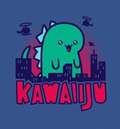 72270d9d7434ed Kawaiiju T-Shirt Designed by Busted Tees
