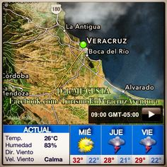 Buenos días a todos feliz #miercoles saludos desde #Veracruz conoce las #temperaturas para este día http://www.facebook.com/turismoenveracruzaventura #clima #Mexico