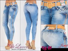Lucero Moda Colombiana on Foursquare Jeans Pants, Denim Jeans, Skinny Jeans, Colored Jeans, Blue Jeans, Jean Outfits, Casual Outfits, Bermuda Jeans, Knitted Booties