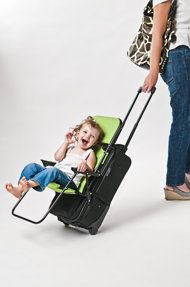 Ride-On Carry-On - traveling with children can be stressful and this will make it a little more fun by converting your carry-on luggage into a stroller.