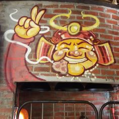 #thirstforlifestreetart #tbt the artwork above the entrance to Rocku Yakiniku Japanese Charcoal Grill Barbecue restaurant in KL. This happy and cool Samurai has a mouthfull of delicious  barbecued meat. _________________________  #streetartinkl #streetartstagram #art #rockuyakiniku #artismylife #artistic  #rockuyakinikumalaysia #inkl #streetart #onthewall #happysamurai #samurai #yakiniku #yakinikurestaurant #instaarts  #worldstreetart #instagram #instacool #artoninsta #artoninstagram…